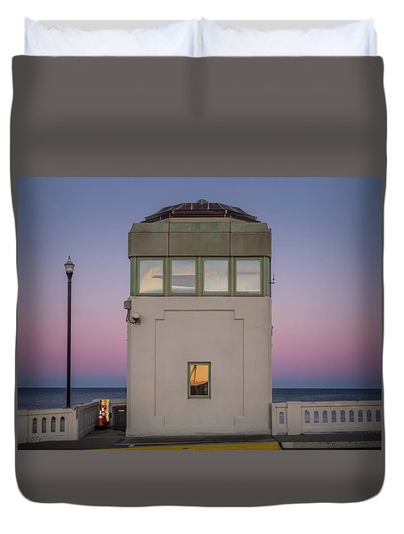 Duvet Cover featuring the photograph Bridge Tender's Tower by Steve Stanger