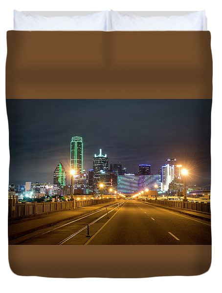 Duvet Cover featuring the photograph Bridge To Dallas by David Morefield