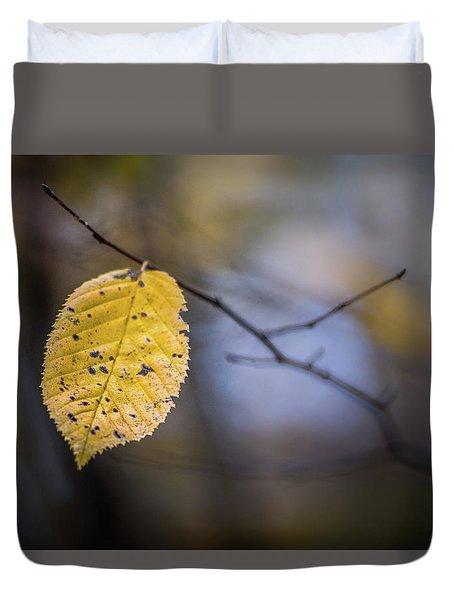 Bright Fall Leaf 1 Duvet Cover
