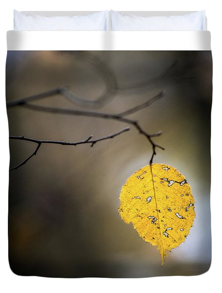 Bright Fall Leaf 7 Duvet Cover