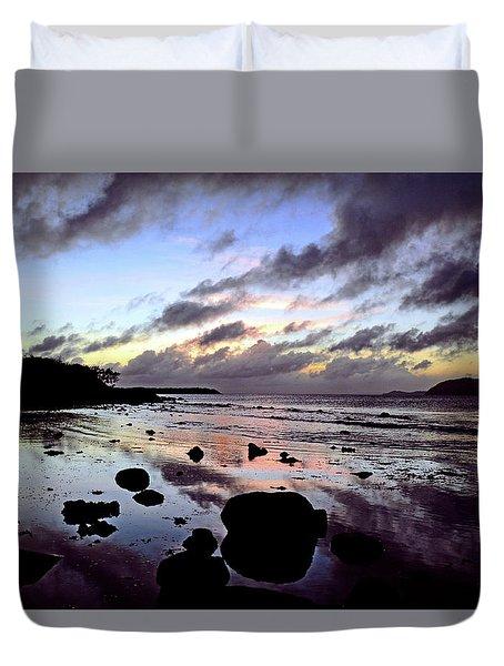 Bright Mirror Of Sunset Light Duvet Cover