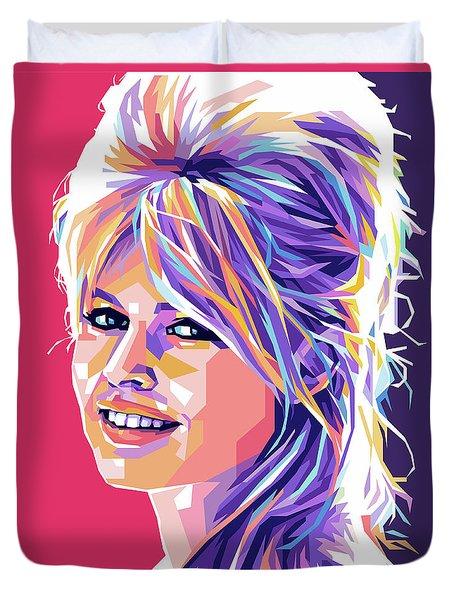 Brigitte Bardot Pop Art Duvet Cover