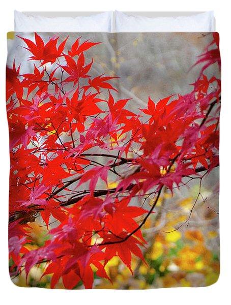 Brilliant Fall Color Duvet Cover