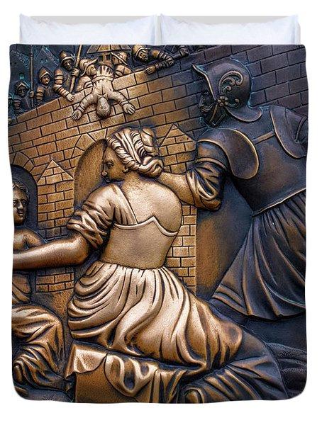 Bronze Wall Art Duvet Cover