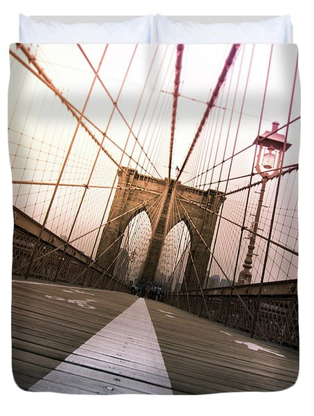Brooklyn Bridge, New York City Duvet Cover