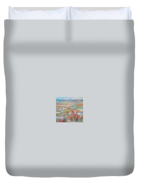 Brush Creek In Abstract Duvet Cover