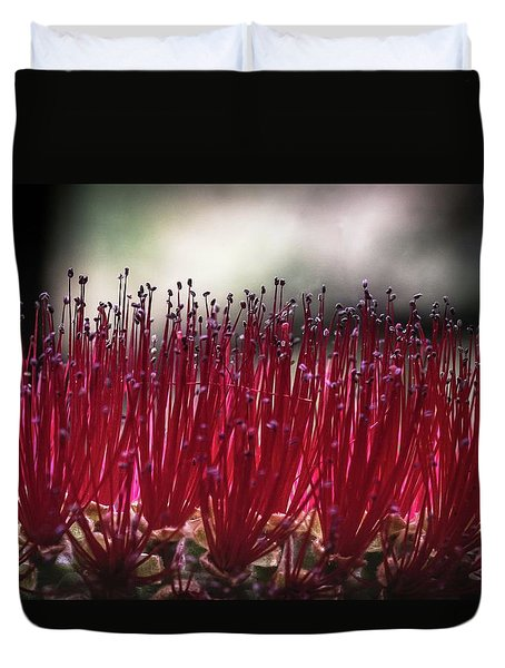 Brush Flower Duvet Cover