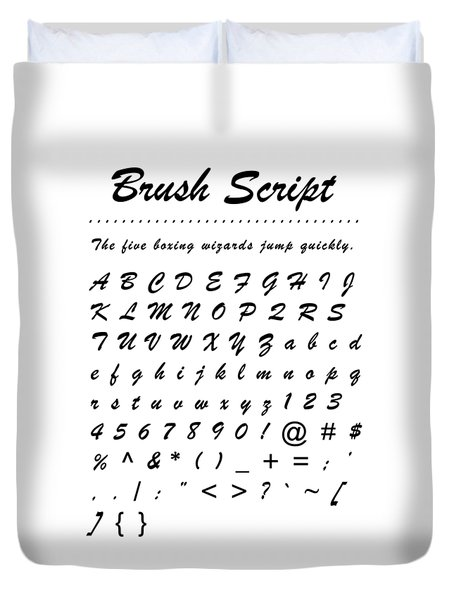 Brush Script - Most Wanted Duvet Cover