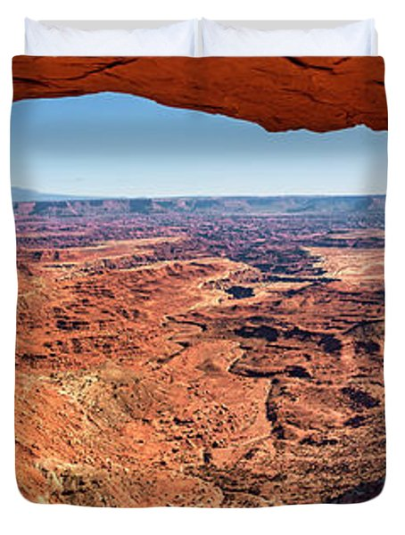 Duvet Cover featuring the photograph Buck Canyon Through Mesa Arch by Andy Crawford