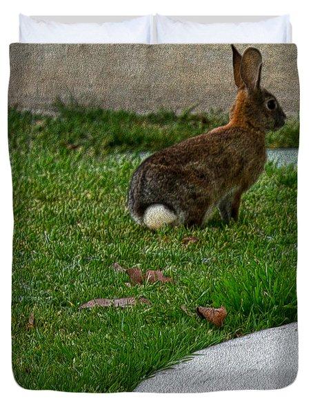 Bunny In Park Duvet Cover