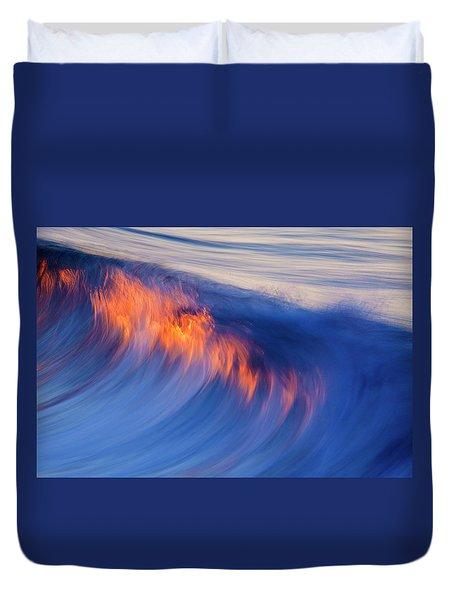 Burning Wave Duvet Cover