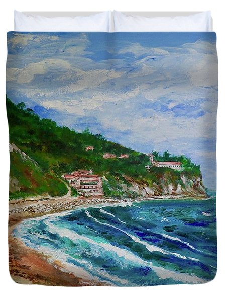 Burnout Beach, Redondo Beach California Duvet Cover