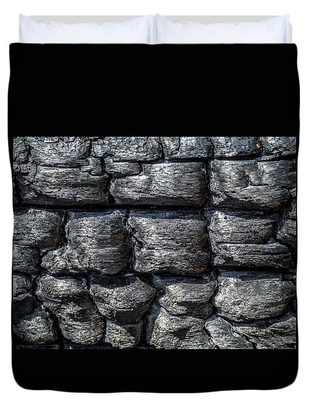 Duvet Cover featuring the photograph Burnt Wood 1 by Dawn Richards