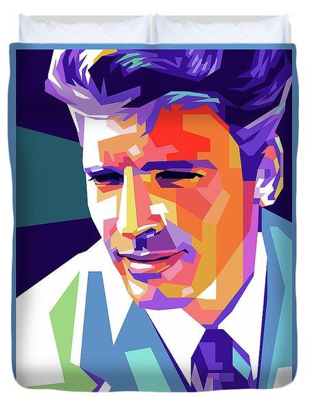 Burt Lancaster Pop Art Duvet Cover