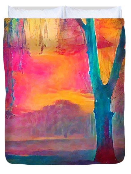 Bush Sunset  Duvet Cover