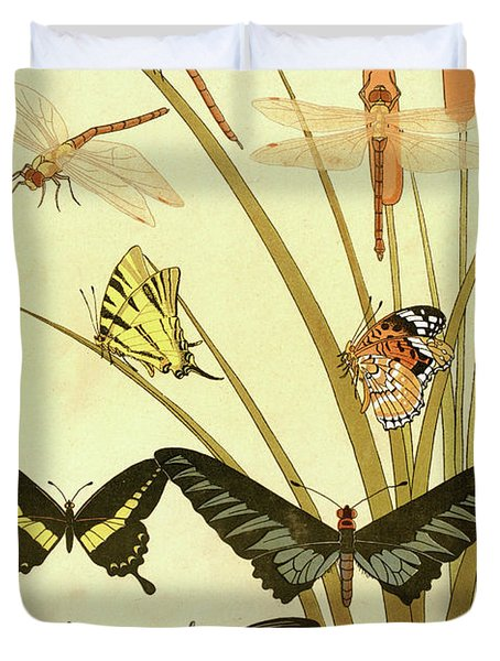 Butterflies By Maurice Pillard Verneuil Duvet Cover