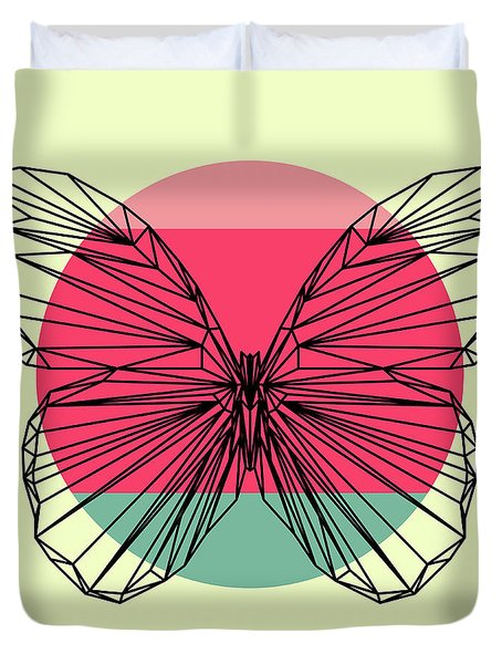 Butterfly And Sunset Duvet Cover