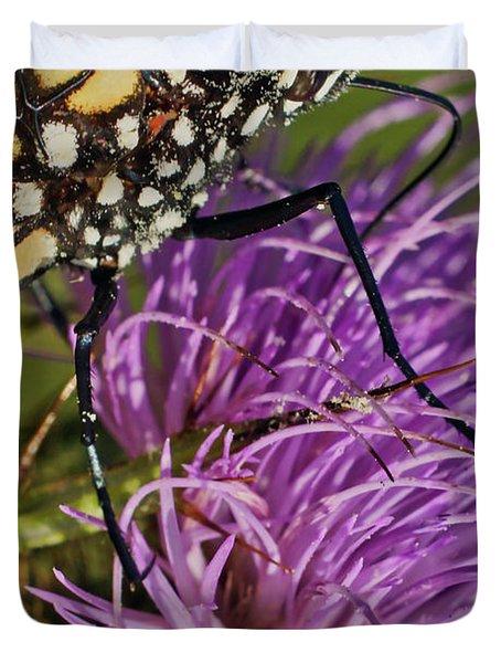 Butterfly Closeup Vertical Duvet Cover