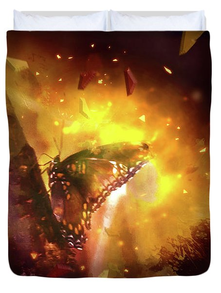 Butterfly Color Explosion. Duvet Cover