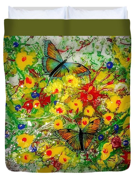 Butterfly Delight Duvet Cover