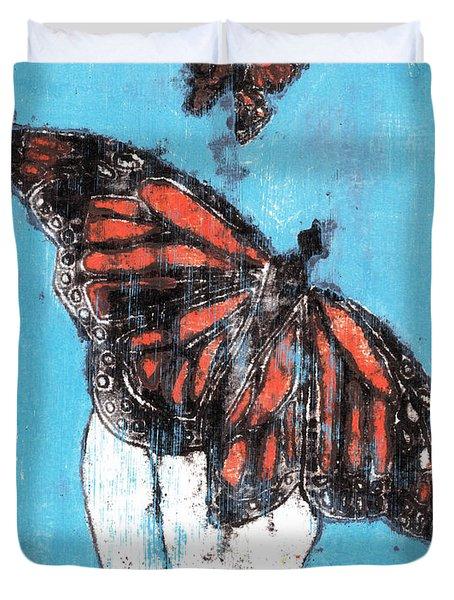 Butterfly Garden Summer 1 Duvet Cover