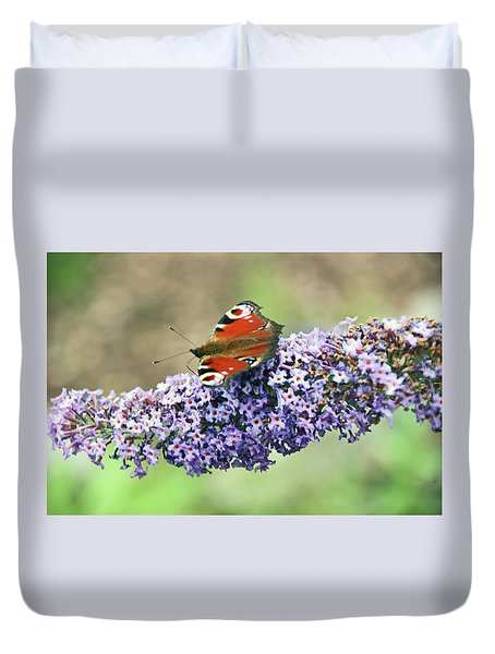 Butterfly On The Buddleia Duvet Cover