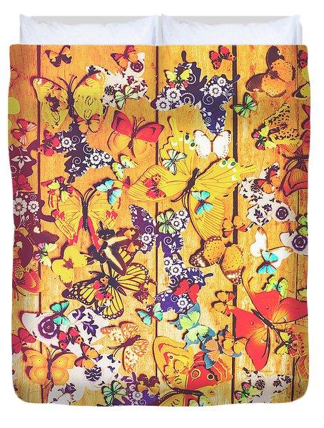Butterfly Papercraft  Duvet Cover
