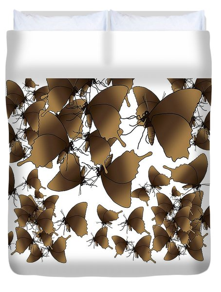 Butterfly Patterns 1 Duvet Cover