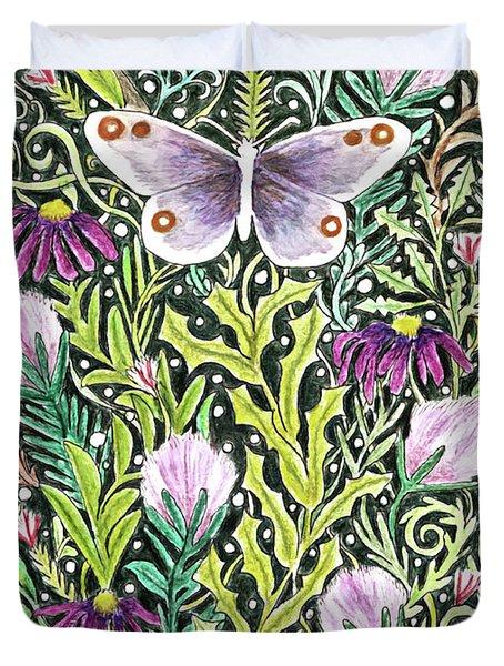 Butterfly Tapestry Design Duvet Cover