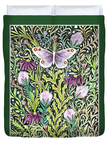 Butterfly Tapestry Design Duvet Cover