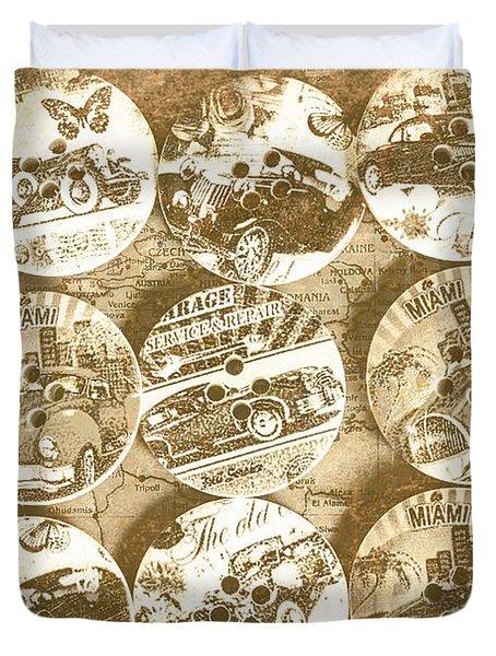 Button Roadhouse Duvet Cover