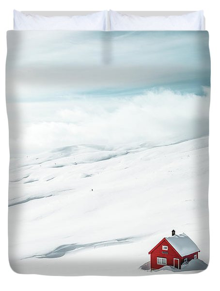 By Myself Duvet Cover