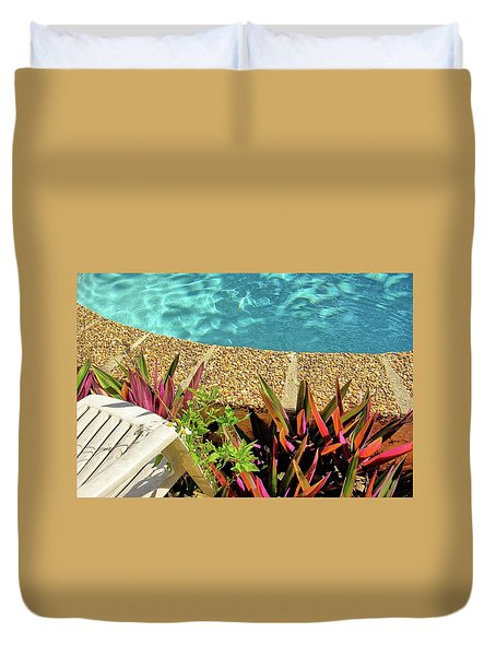 By The Pool Duvet Cover