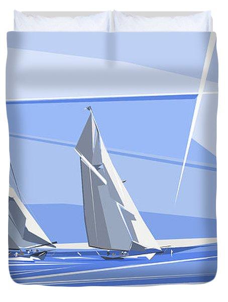 C-class Yachts Duvet Cover