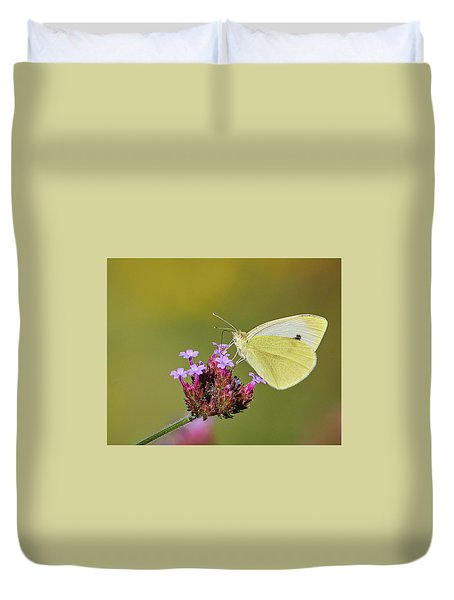 Cabbage White Butterfly Duvet Cover