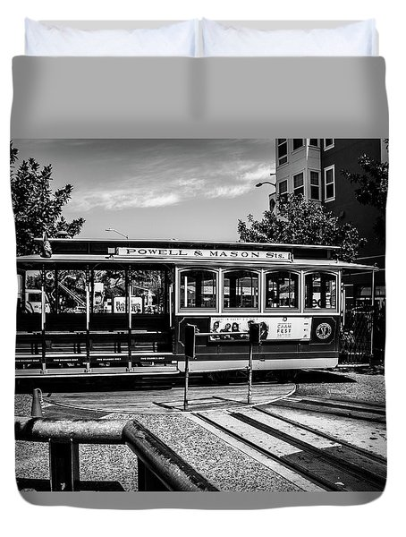 Cable Car Turn Around Duvet Cover