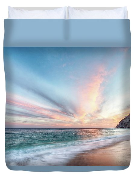 Duvet Cover featuring the photograph Cabo San Lucas Beach Sunset Mexico by Nathan Bush