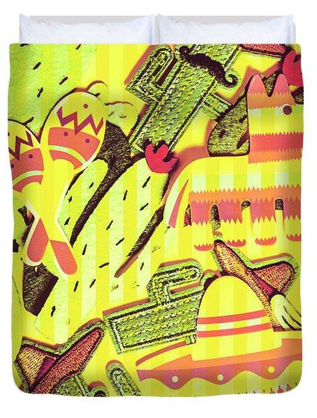 Cactus Carnival Duvet Cover
