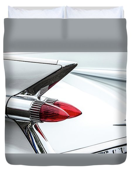Cadillac Tail Fins Duvet Cover