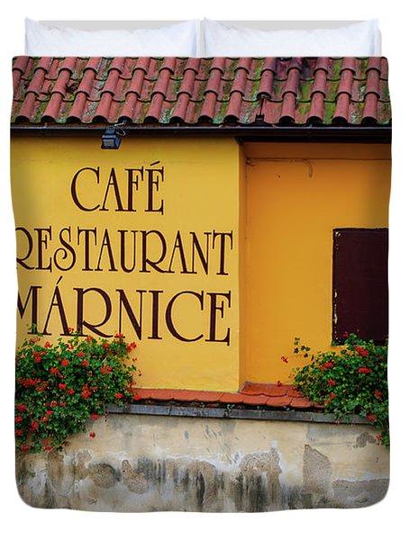 Cafe Restaurant Marnice Duvet Cover