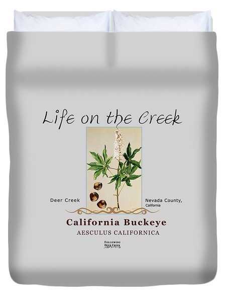 California Buckeye Duvet Cover