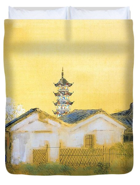 Calm Spring In Jiangnan - Digital Remastered Edition Duvet Cover