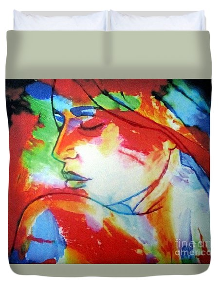 Calm Through The Storm Duvet Cover