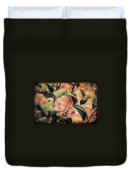 Camellia Grunge Duvet Cover