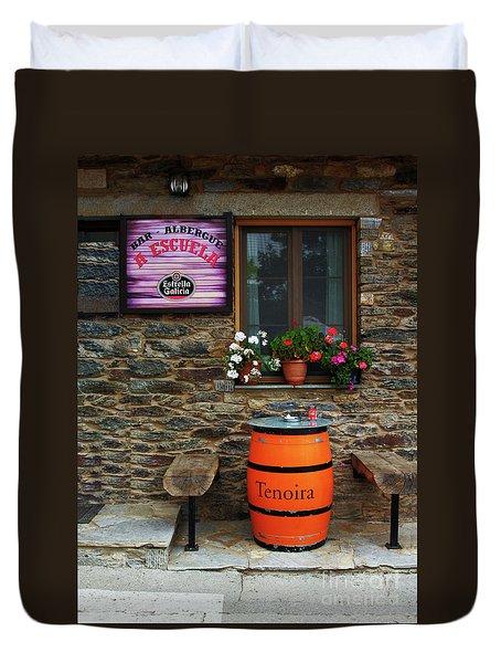 Camino Pilgrim's Repast Duvet Cover