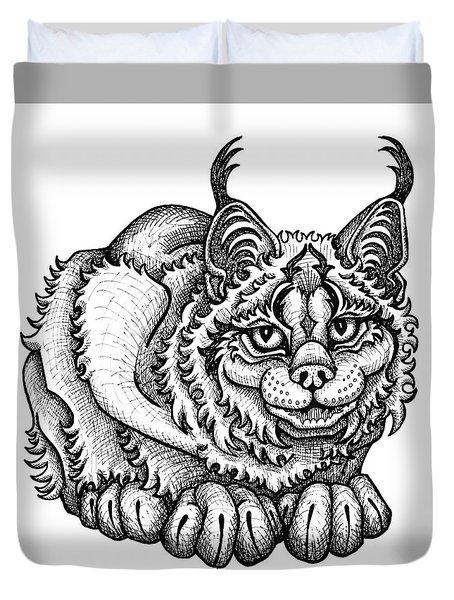 Canada Lynx Duvet Cover