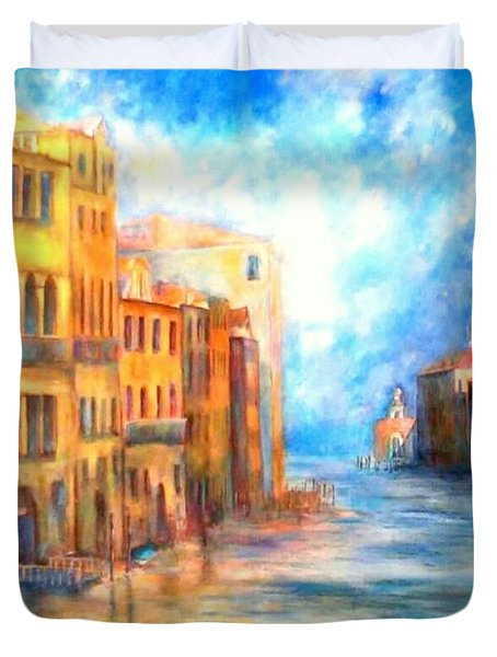 Canale Grande Duvet Cover