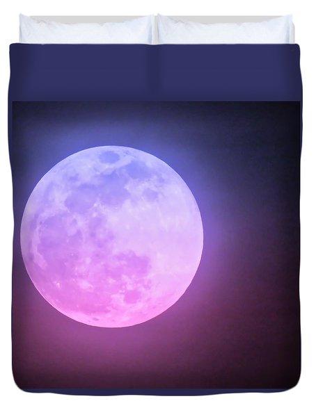 Cancer Super Wolf Blood Moon Near Eclipse Duvet Cover