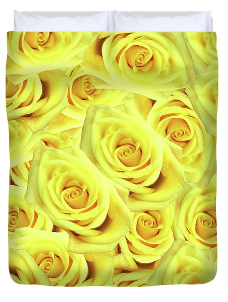 Candlelight Roses Duvet Cover