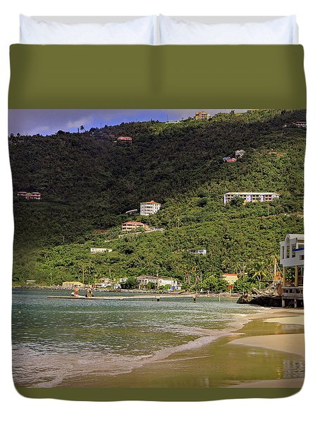 Duvet Cover featuring the photograph Cane Garden Bay by Tony Murtagh
